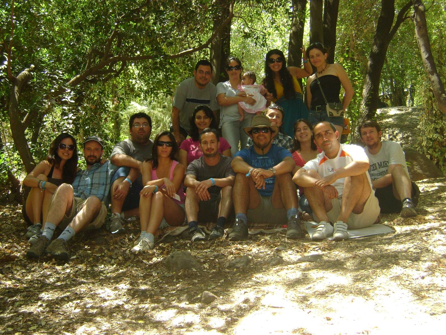Grupo en Casa Manquehue